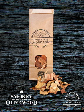 Smokey Olive wood amandel hout  2cm-4 cm 1700ml