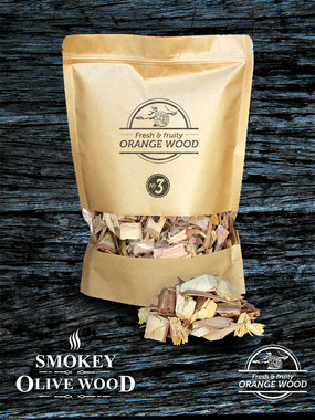 Smokey Olive wood sinaasappel houtchips no.3 1700ml