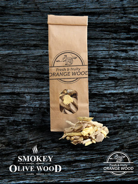 Smokey Olive wood sinaasappel houtchips no.3 500ml