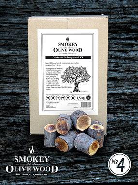 Smokey Olive wood steeneik chunks 5 cm-10 cm 1.5kg