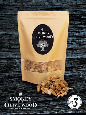 Smokey Olive wood rookchips groot 2cm-3cm 1700ml