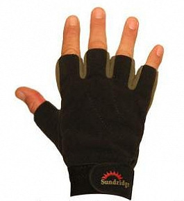 sundridge - sundridge laminated fleece fingerless handschoen
