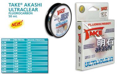 AKASHI fluoro carbon 50 meter 0.14MM