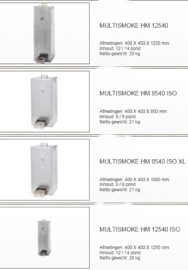 Multismoke - Rookoven RVS 400mm x 400 mm x 1250mm hm12540