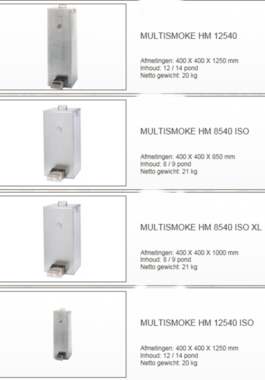 Multismoke - Rookoven 400mm x 400 mm x 1250mm hm12540 Galva
