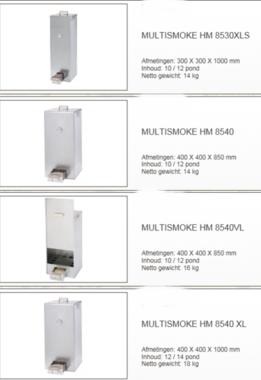 Multismoke - Rookoven 400mm x 400 mm x 1000mm hm8540XL Galva
