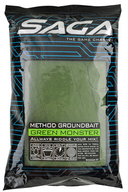 SAGA method groundbait green monster 900 gr