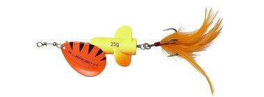 DAM Effzett Rattlin'Spinner Size 5/ 11cm/ 18g fluo oranje/geel