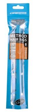 Cresta Method Hair Rigs+Stop Barbed (8x)