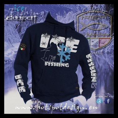 Hotspot design -sweater ice fishing blauw F-ICE