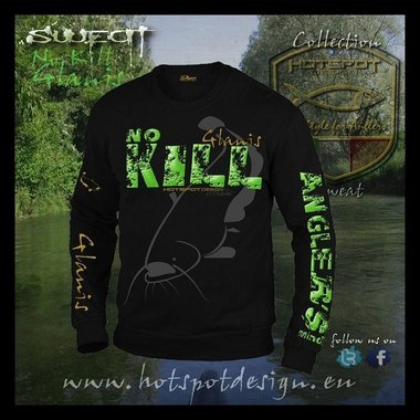 Hotspot design -sweater no kill glanis zwart F-cat