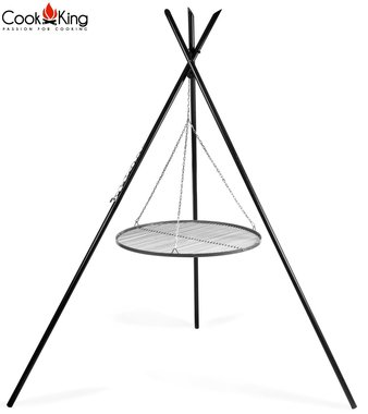 Cookking Grill: RVS rooster met  tripod(tipi) 220cm