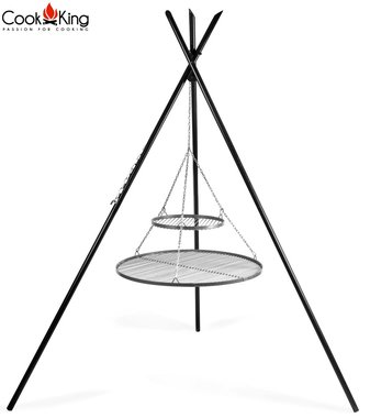 Cookking Grill: RVS roosters met tripod(tipi) 220cm