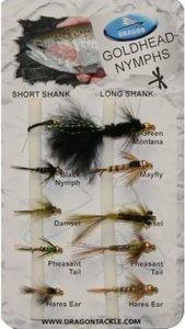 Dragon Std Fly Selection- Goldhead Nymphs (10)