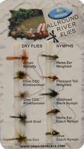 Dragon Std Fly Selection- River Flies (10)