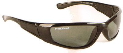 Falcon Polarized Sunglass Renato - Black Frame / Grey Lens