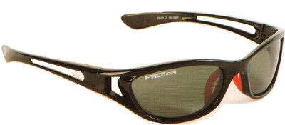 Falcon Polarized Sunglass Paolo - Black Frame / Green-Grey Lens