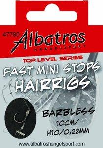 Albatros Toplevel Fast Mini Stops Barbless 40cm H10/0,22mm