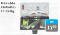 LFT - Viskoffer gevuld 15 delig transparant koffer